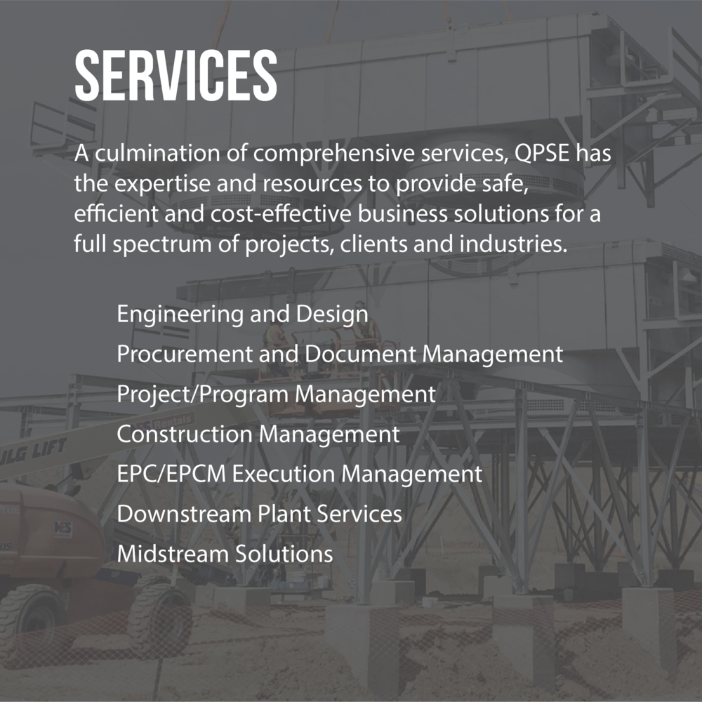 Services, oil, gas, refining, engineering, design, environmental, planning, management, regulatory, regulation, procurement, taxonomy, document, project, program, fabrication, construction, government, contract, international, downstream, refinery
