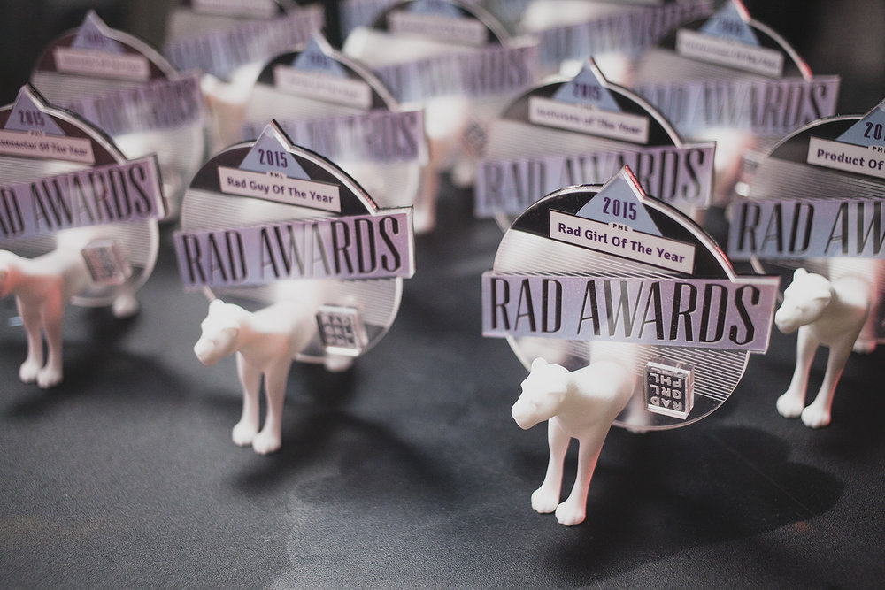 Artist Emily Cobb designed the lioness Rad Award statuettes.