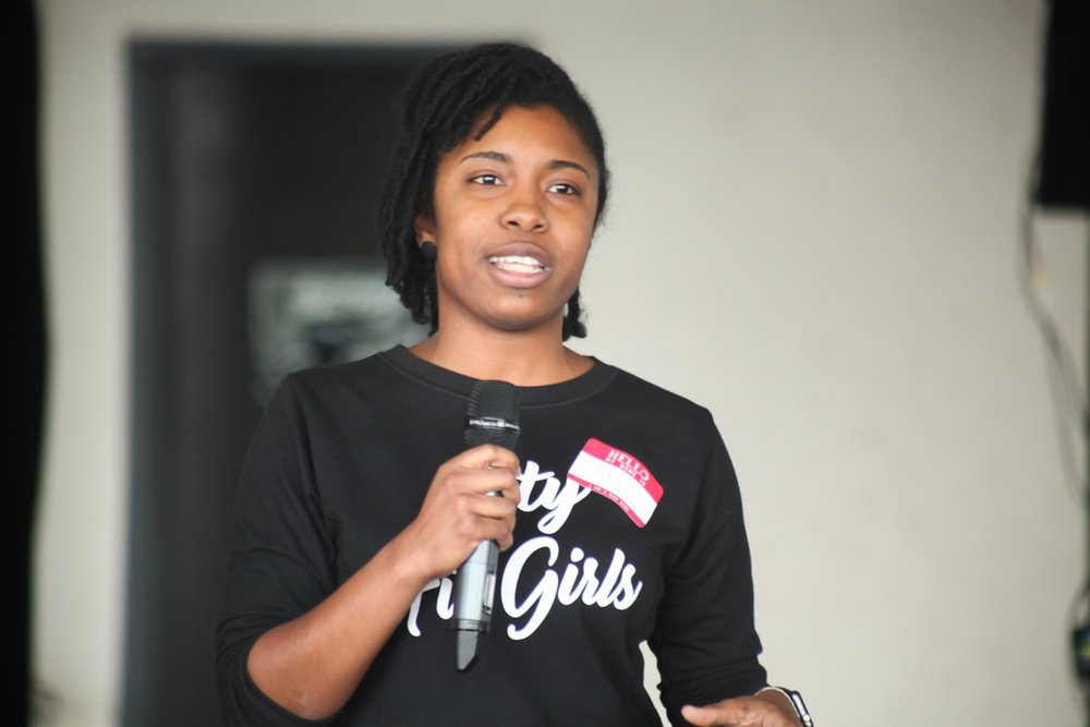 Takia McClendon, Co-founder of City Fit Girls.  Photo by Briana Sposato/In Between Rivers