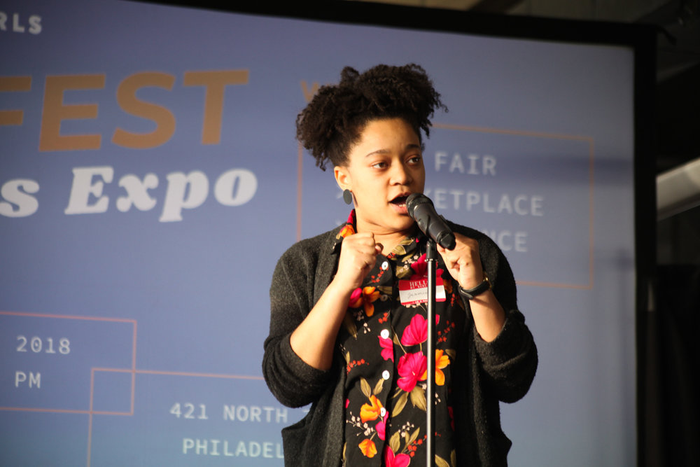 Poet Jasmine Combs. Photo by Briana Sposato/In Between Rivers
