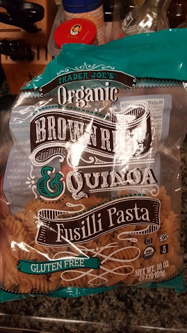 trader joe's brown rice and quinoa fusili pasts