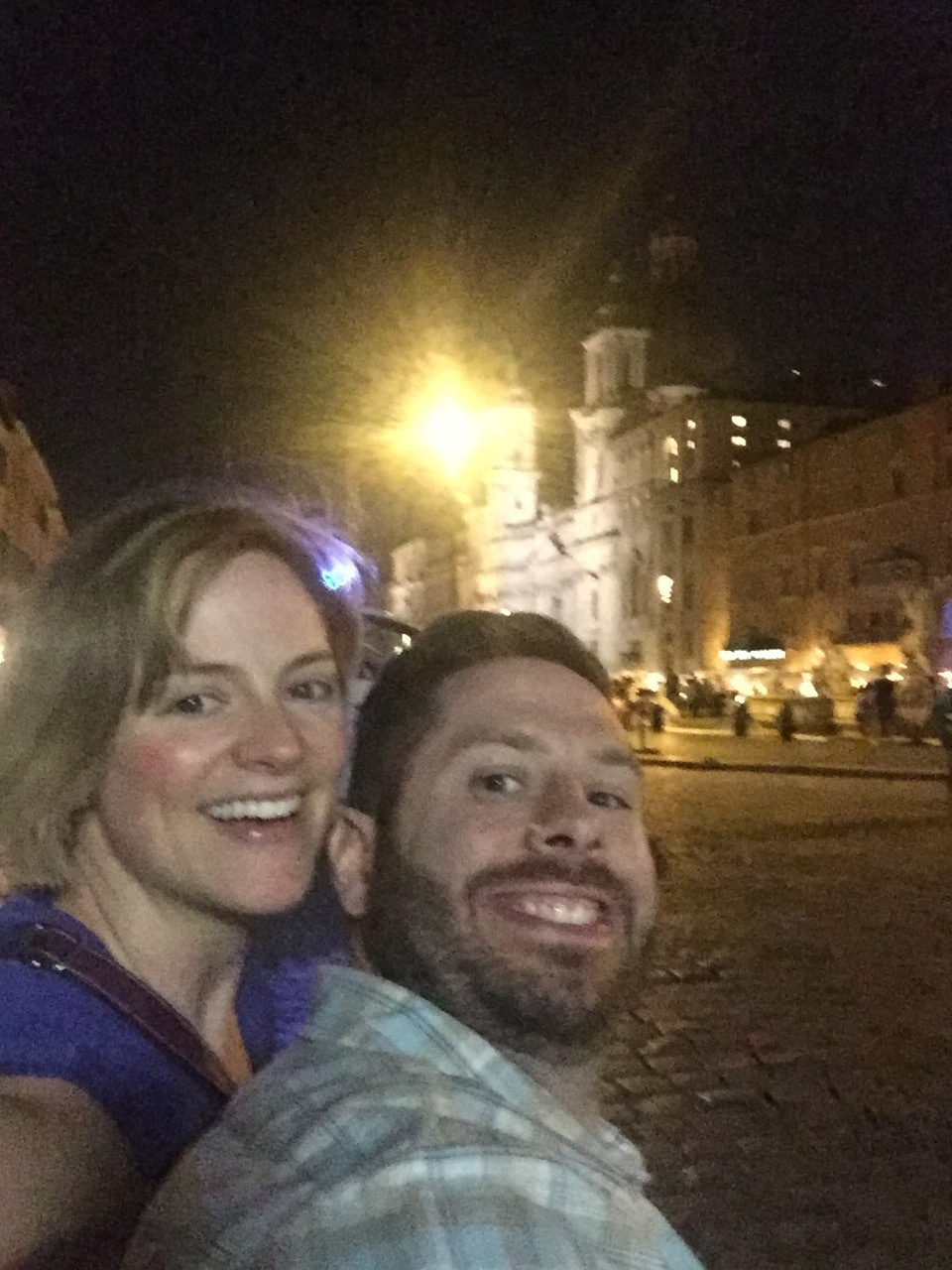We never bought a selfie stick in the Piazza Navona but maybe we should have
