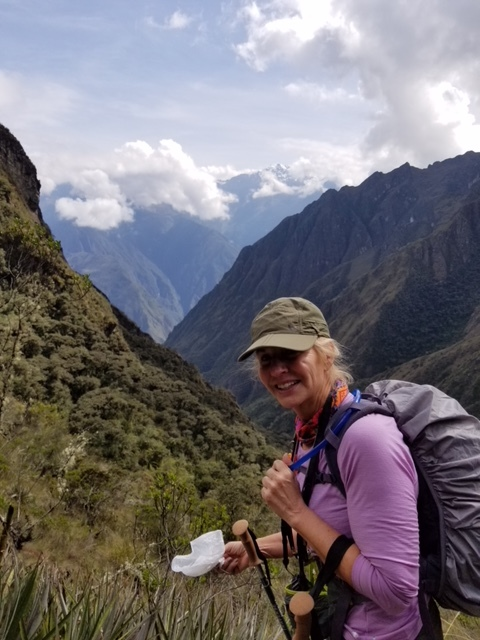 Jeanne taking on the mountains of peru!