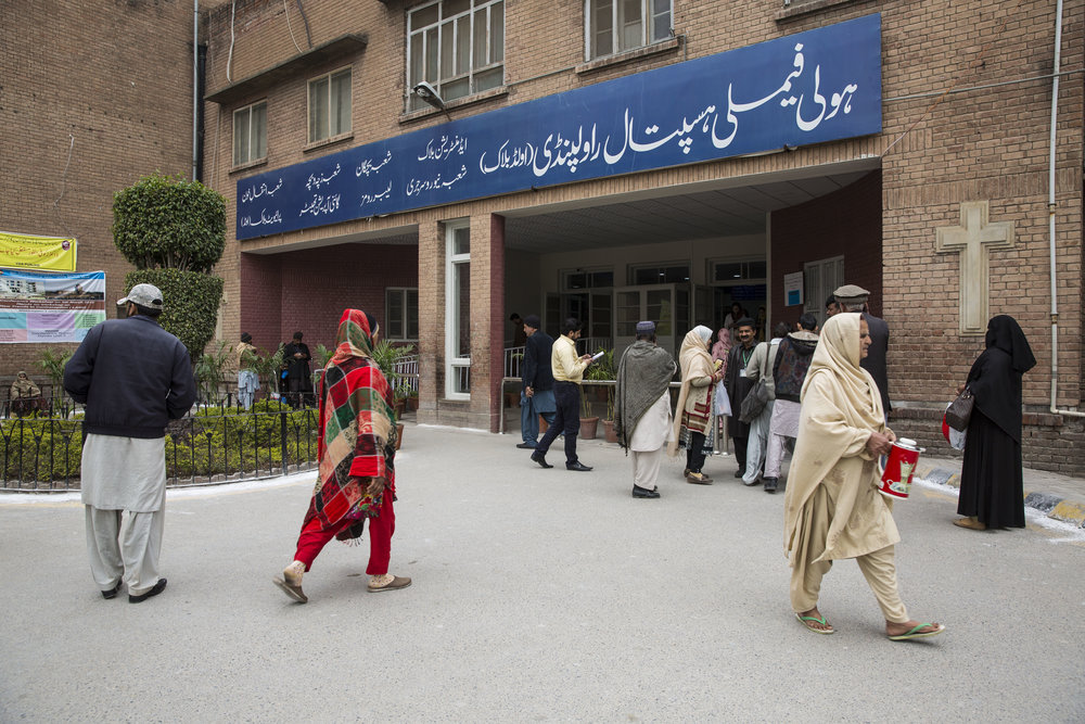 Holy Family Hospital, where women are being treated with a life-saving drug call Tranxamin which prevents postpartum haemorrhaging on March 14, 2019 in Rawalpindi, Pakistan.
