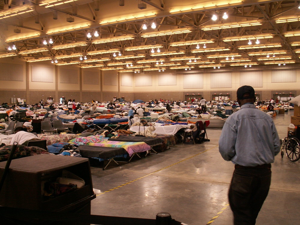 Hope International helping at safe zone after Katrina
