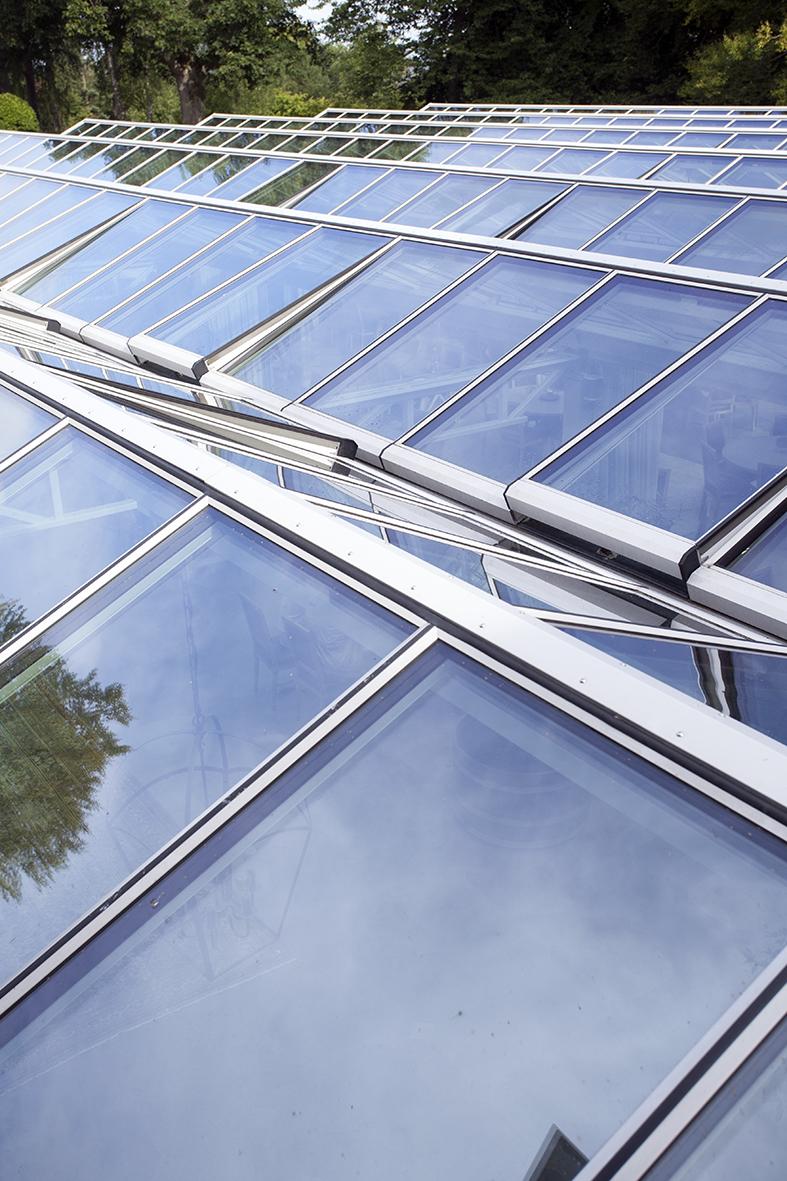 Villa Abelin - tak över vinterträdgård