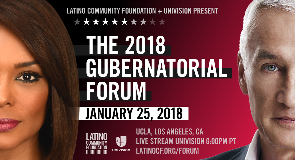 Through support of the Latino Community Foundation, ODAT will be taking a select number of youth to take part in the 2018 Gubernatorial Forum hosted at UCLA. The forum will be live streamed on  Thursday ,  January 25th at 6:00 p.m. PST  and will air on Univision and KDTV- San Francisco.