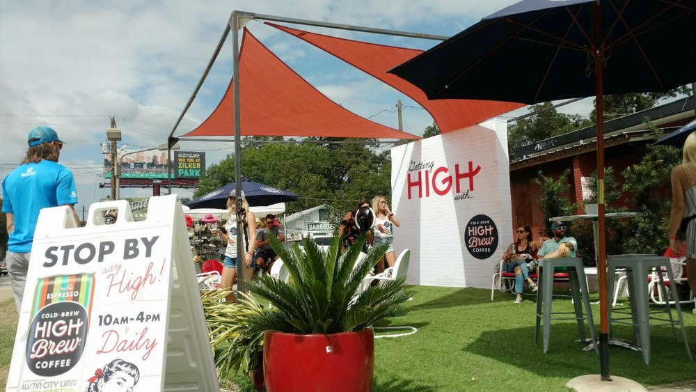 Made a nifty shade structure for High Brew at ACL -