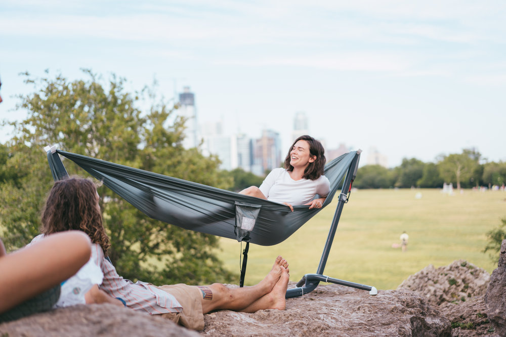 The Swiftlet - A portable and lightweight hammock stand.Meant for the indoors and outdoors.