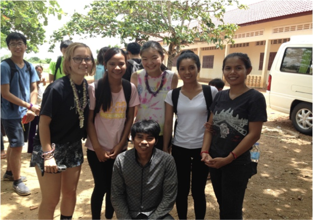 TASSEL Volunteer Jenny Niwa on a recent summer trip to Cambodia.