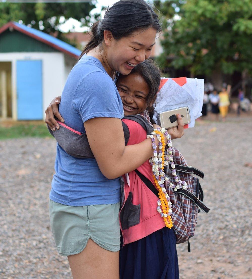 TASSEL volunteer Sophia Lee on a TASSEL summer trip.
