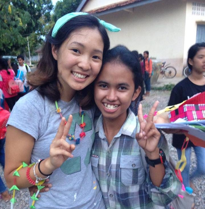 TASSEL Teacher Tei after class at the Samrang school in Cambodia, Summer.