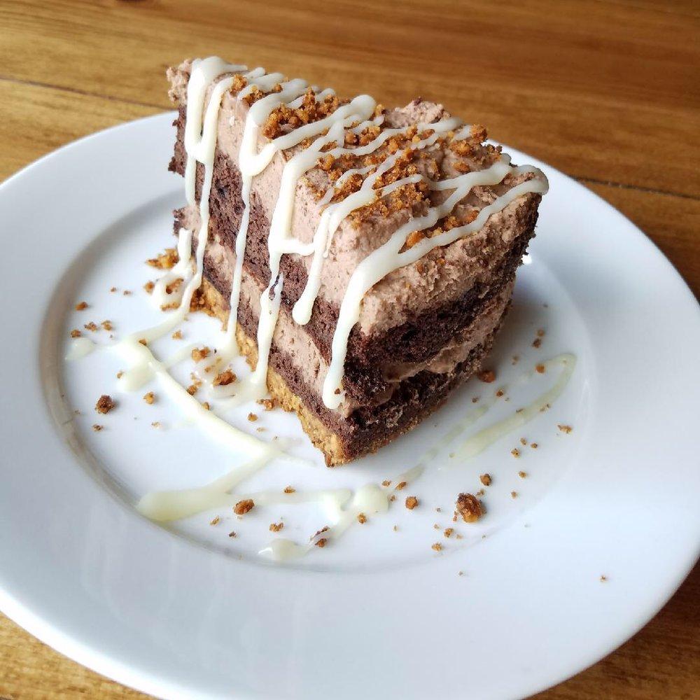 Layered Brownie Pie