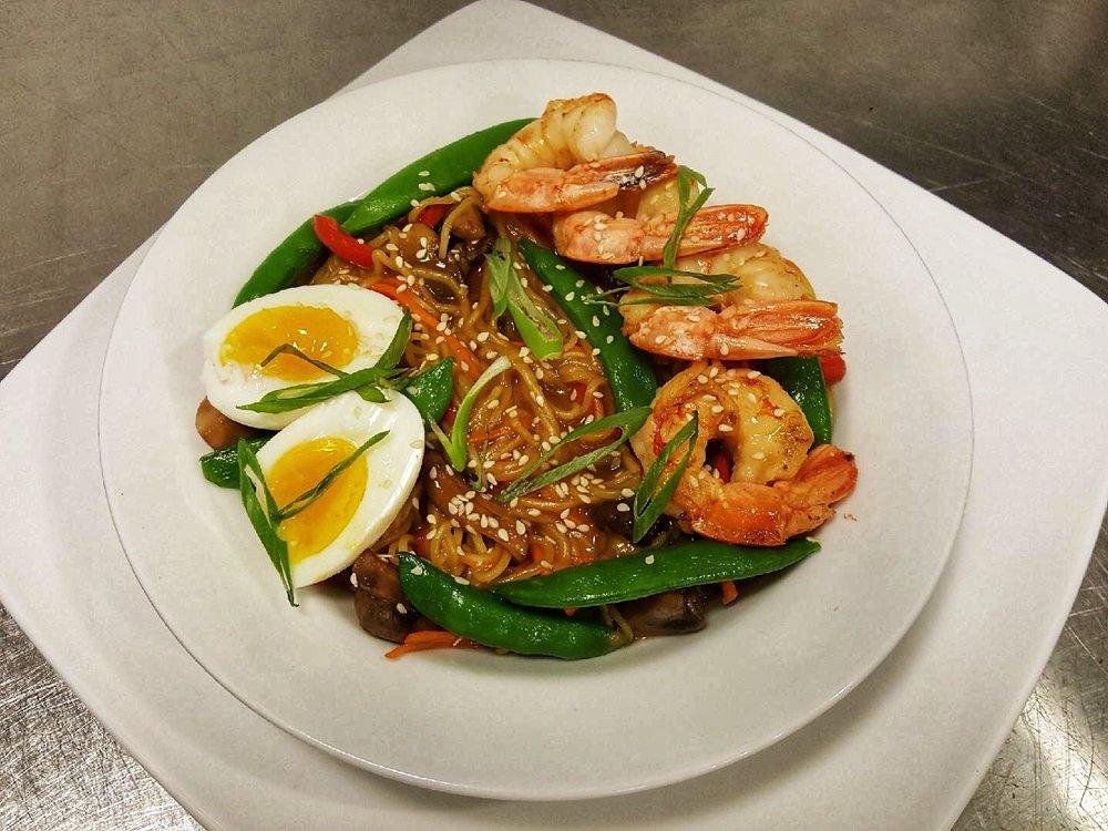 Spicy Miso Shrimp Ramen