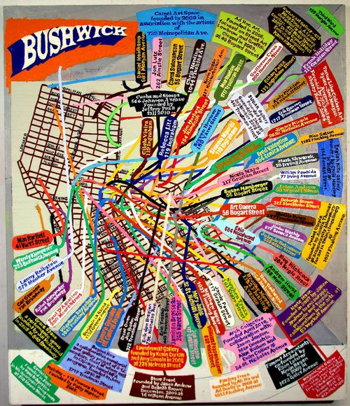 Bushwick Map (study) 42 x 36 2010-2011