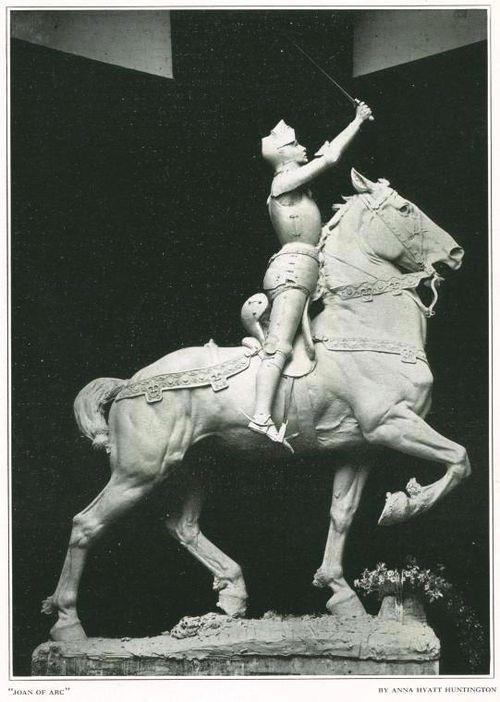 Plaster cast jeanne d'Arc