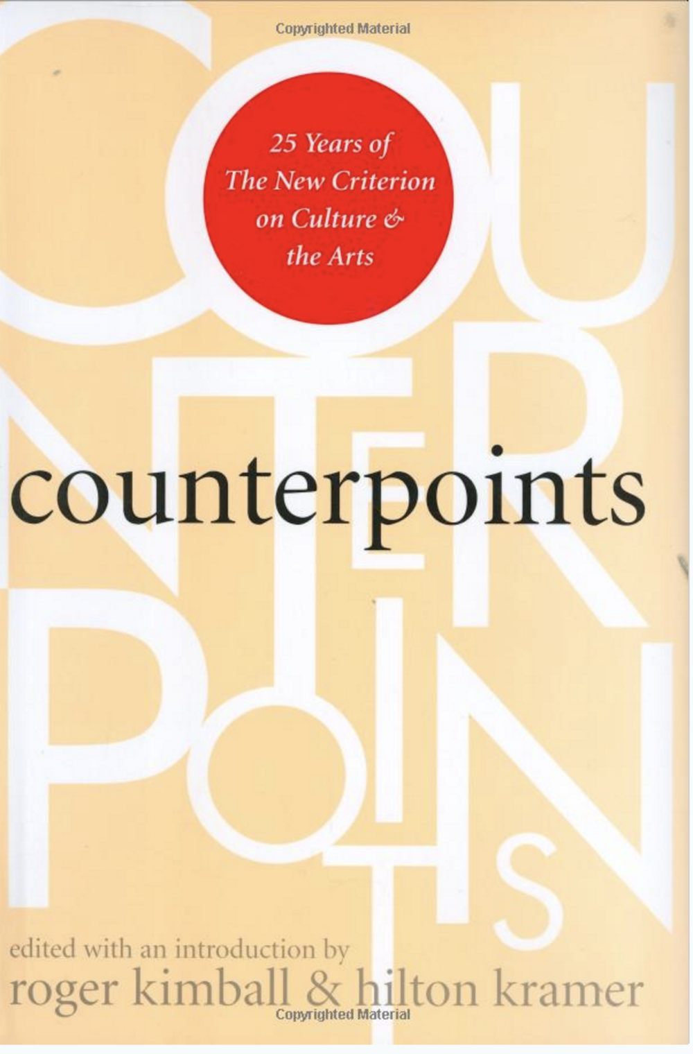 COUNTERPOINTS Chapters on Milton Avery & Randall Jarrell