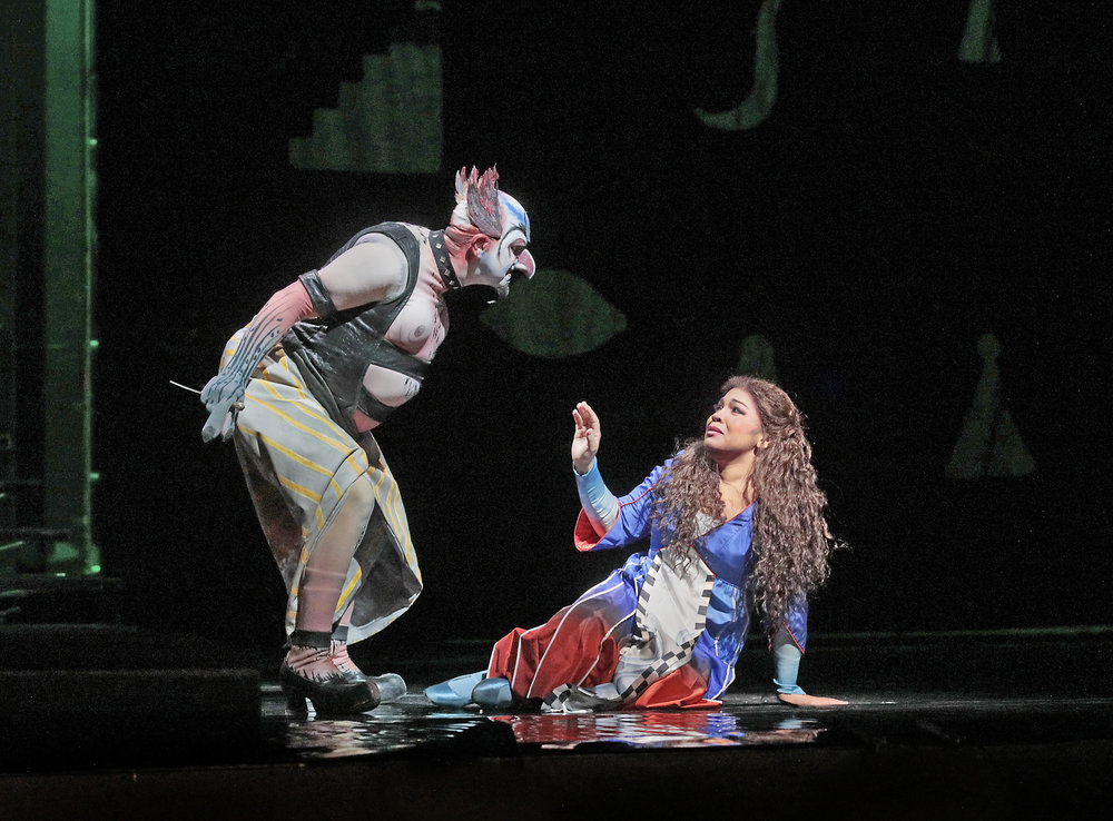 "Robert Brubaker as Monostatos and Janai Brugger as Pamina in Mozart's ""The Magic Flute."" Photo: Ken Howard/Metropolitan Opera"