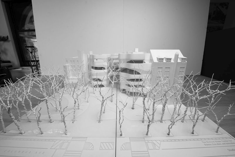 Model for the American Museum of Natural History's Gilder Center, facing Columbus Avenue and Seventy-ninth Street.