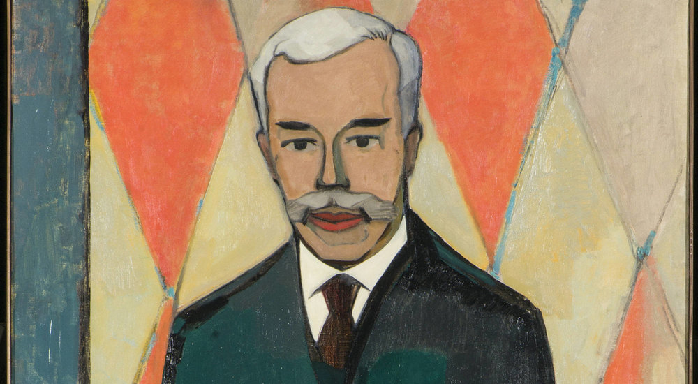 Christian Cornelius (Xan) Krohn, portrait of Serguei Shchukin, 1916. Oil on canvas, 191 × 88 cm, The State Hermitage Museum, Saint Petersburg