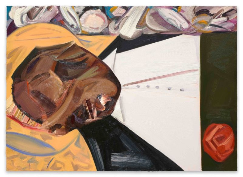 Dana Schutz, Open Casket, 2017, Oil on canvas. Photo: Dana Schutz / Petzel