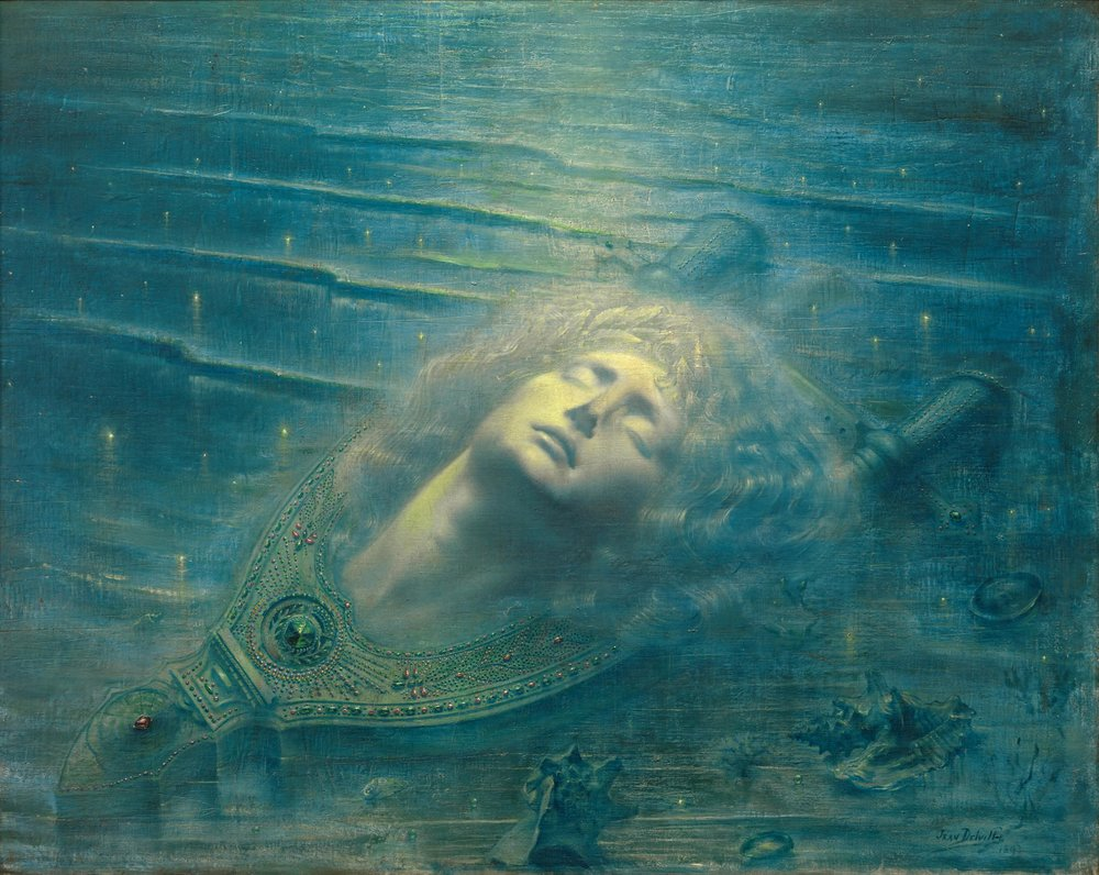 'The Death of Orpheus (Orphée mort)' (1893), by Jean Delville PHOTO: ROYAL MUSEUMS OF FINE ARTS, BELGIUM, BRUSSELS: J. GELEYNS-RO SCAN