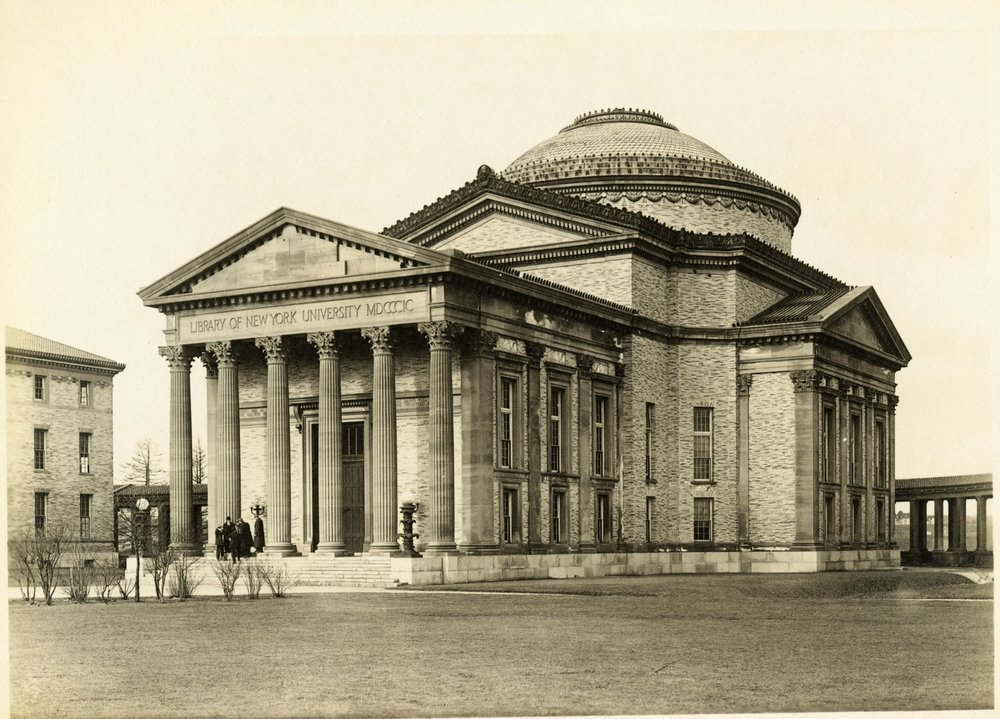 Stanford White's Gould Memorial Library soon after its completion. Photo: New York University Archives