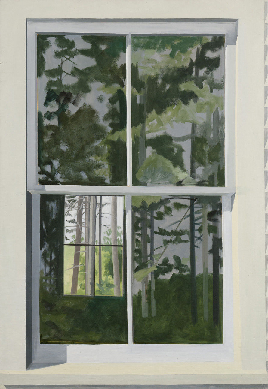 Lois Dodd , View Through Elliot's Shack, Looking South,  1971 ,  Oil on linen ,  Alexandre Gallery.