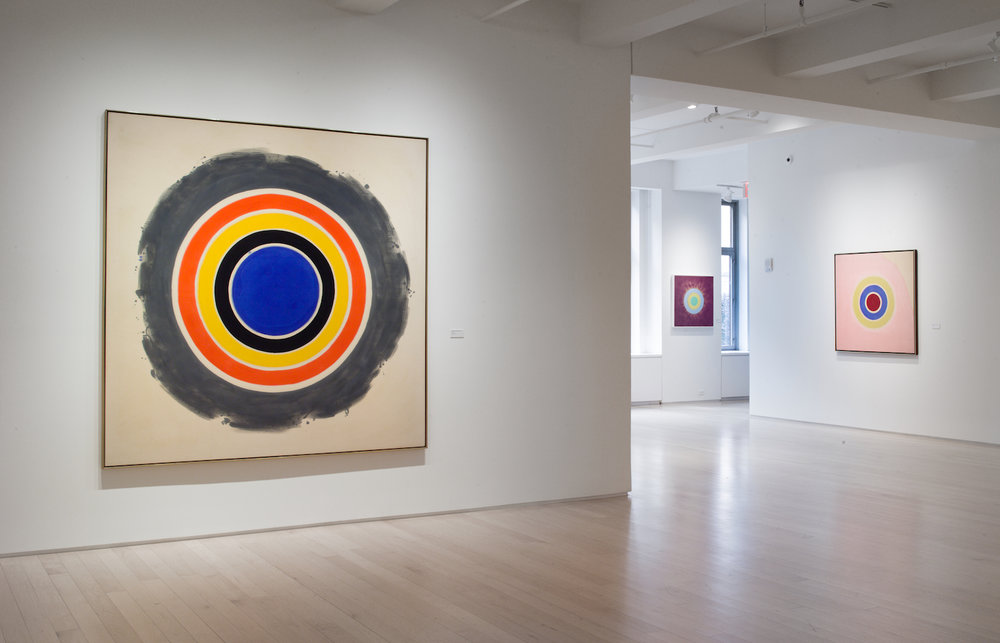 "Installation view, ""Circles: Early + Late"" at Yares Art. Photo: Yares Art"
