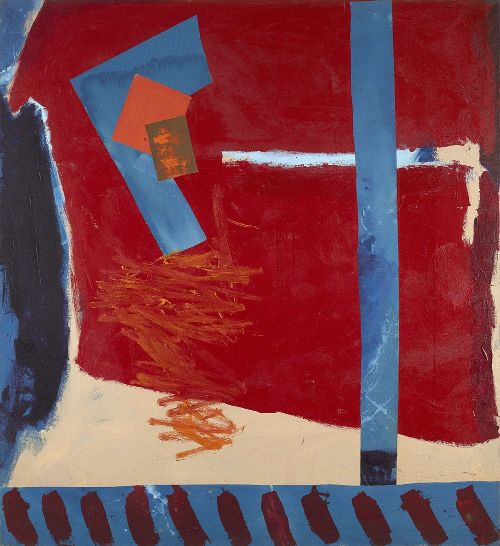Ann Purcell , Race Point,  1982 ,  Acrylic and collage on canvas ,  Berry Campbell