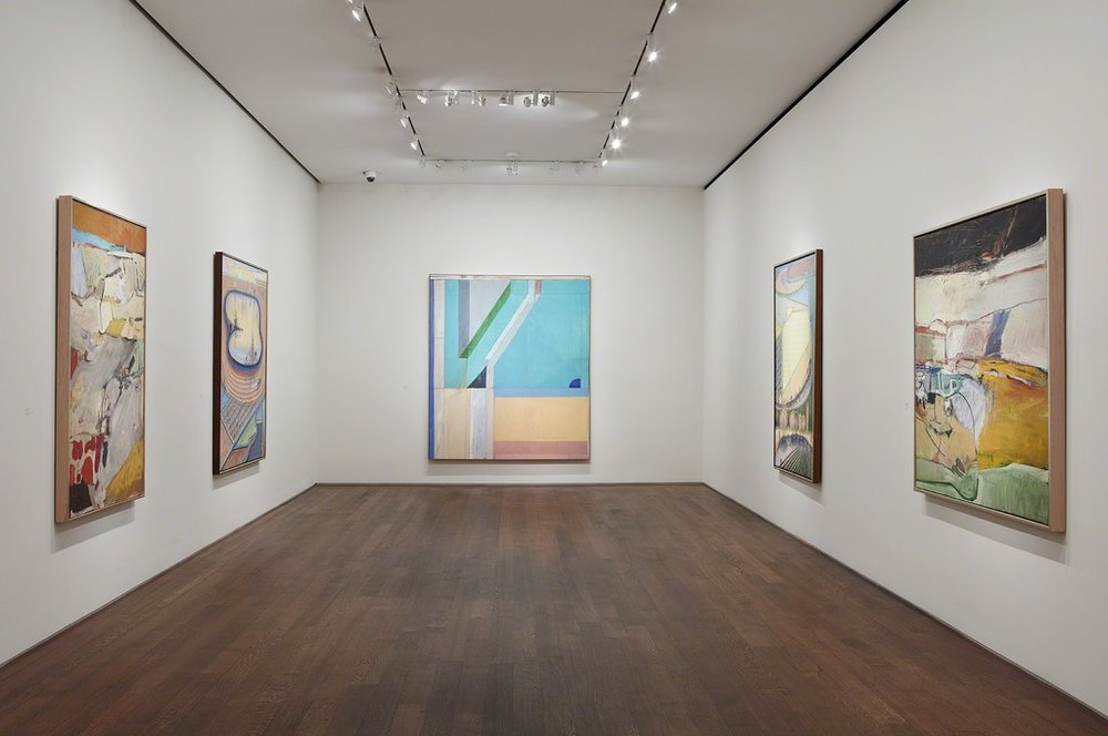 "Installation view, ""California Landscapes: Richard Diebenkorn 