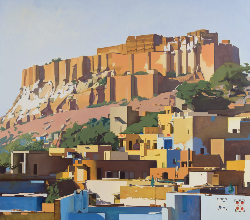 Marc de Montebello , View of Jodhpur,  2015 ,  Oil on canvas ,  W. M. Brady & Co.