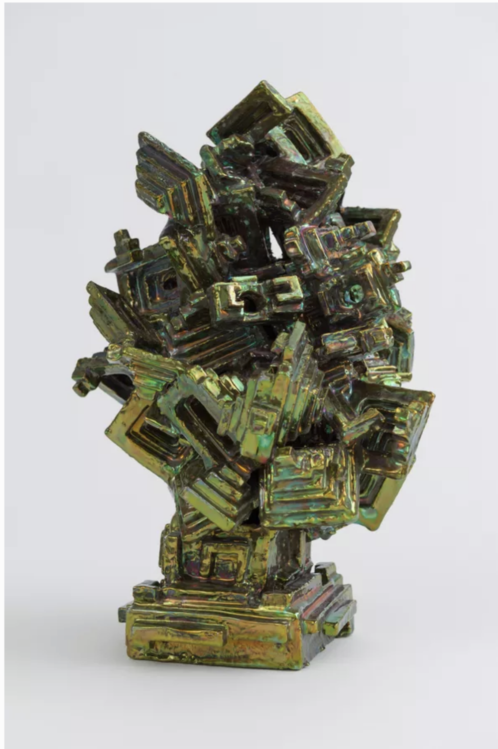 Julia Kunin , Green Bismuth Head,  2013 ,  Ceramic ,  Honey Ramka.