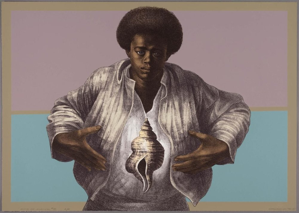 Charles White's 'Sound of Silence' (1978) PHOTO: THE CHARLES WHITE ARCHIVES INC./