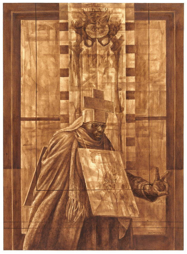 Charles White's 'Black Pope (Sandwich Board Man)' (1973) PHOTO: THE CHARLES WHITE ARCHIVES INC./