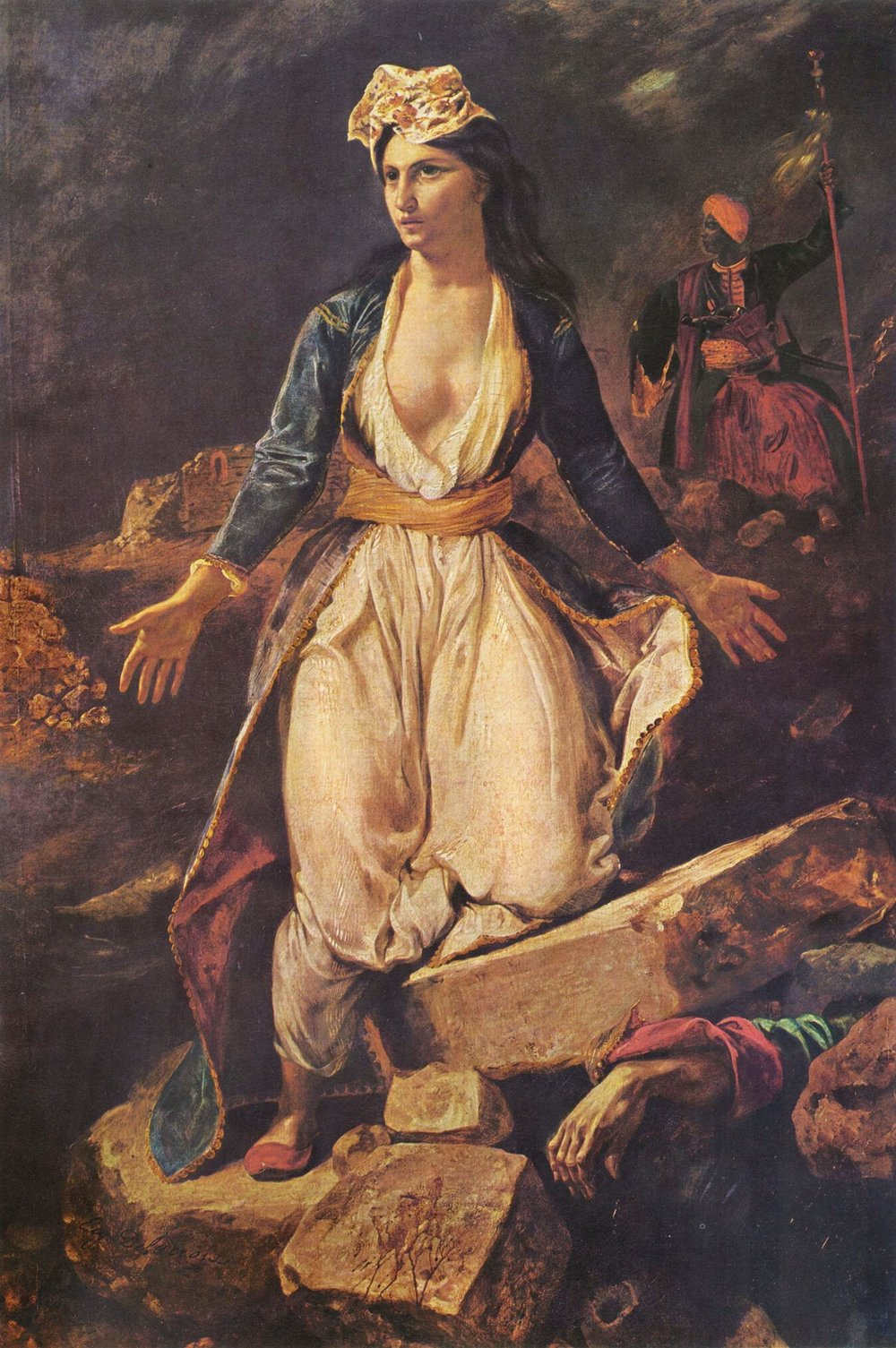 Greece on the Ruins of Missolonghi (1826)