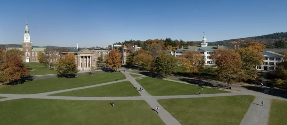 The Dartmouth College green. Photo: Dartmouth College.