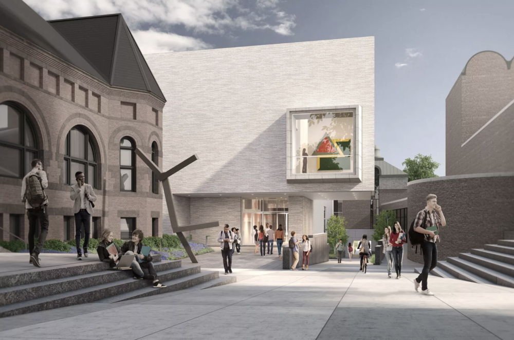 The planned north façade of the new Hood Museum. Rendering: MARCH.