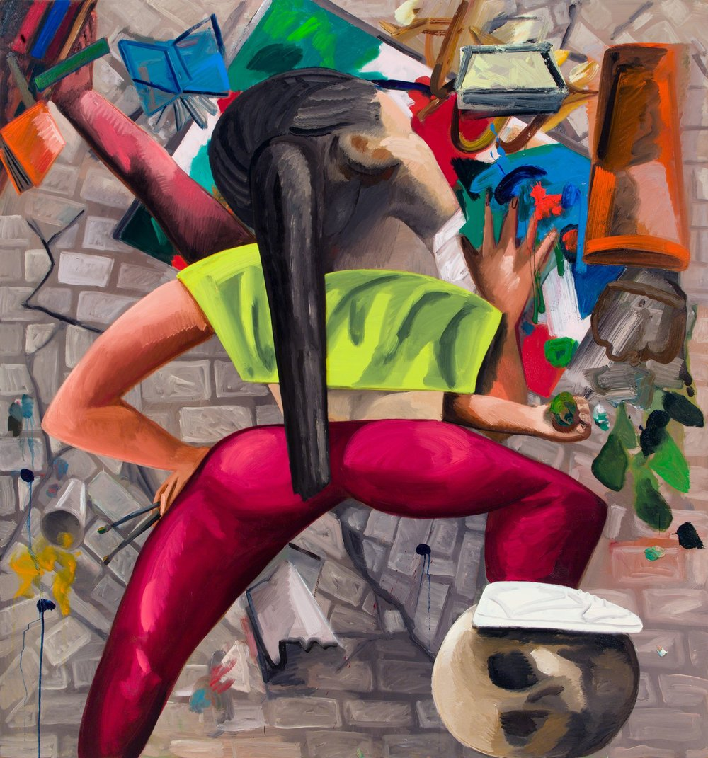 Dana Schutz , Painting in an Earthquake,  2019 ,  Oil on canvas ,  Petzel Gallery.
