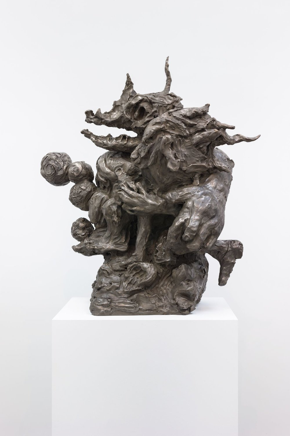 Dana Schutz , Washing Monsters,  2018 ,  Bronze ,  Petzel Gallery.