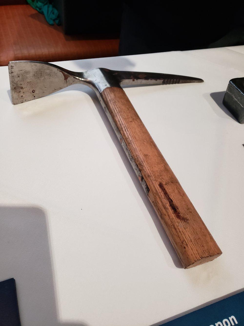The ax used to kill Leon Trotsky. Photo: James Panero.