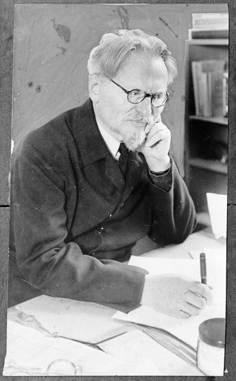 Leon Trotsky,  ca . 1939. Photo: Princeton University.