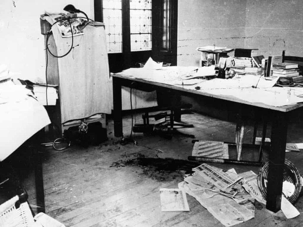 The murder scene where Ramón Mercader assassinated Leon Trotsky. Photo: Hulton-Deutsch Collection / Corbis.