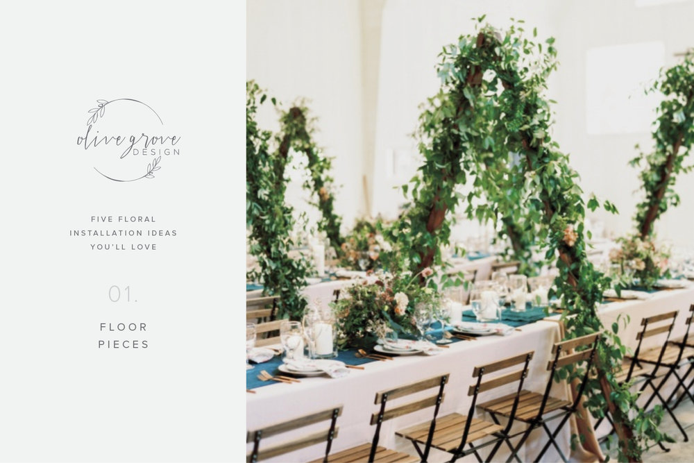 Five Wedding Floral Installation Ideas You'll Love | Olive Grove Design