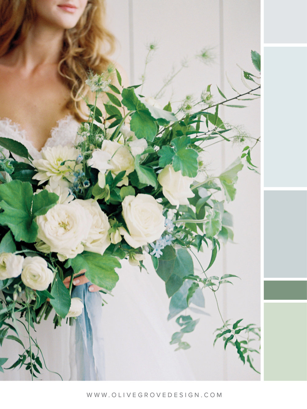 Color Crush Five Color Palettes For A Spring Wedding Olive Grove