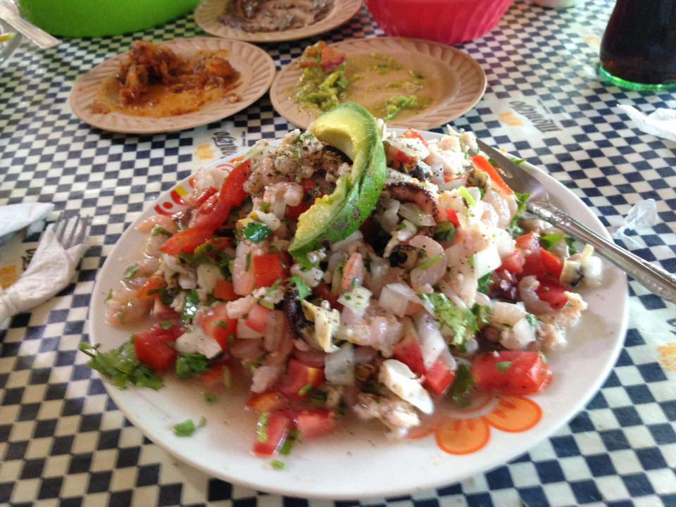Ceviche served to Caroline in Mexico