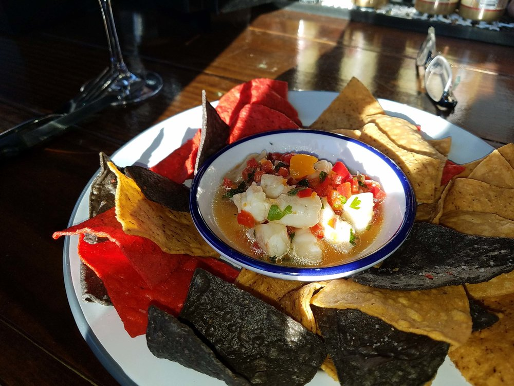 Ceviche served to Lydia in the Charleston area