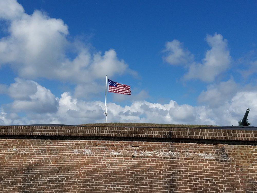 Flag over Fort Moultrie on Sullivans Island