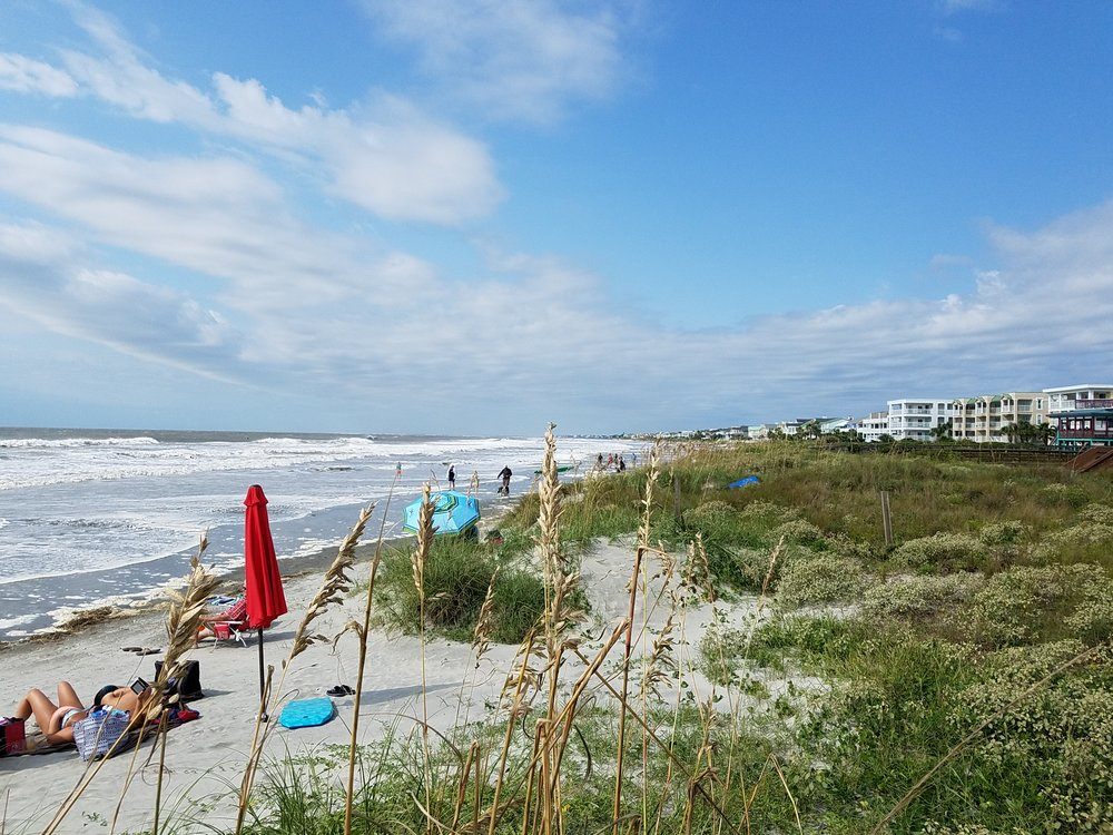 High tide on the Isle of Palms