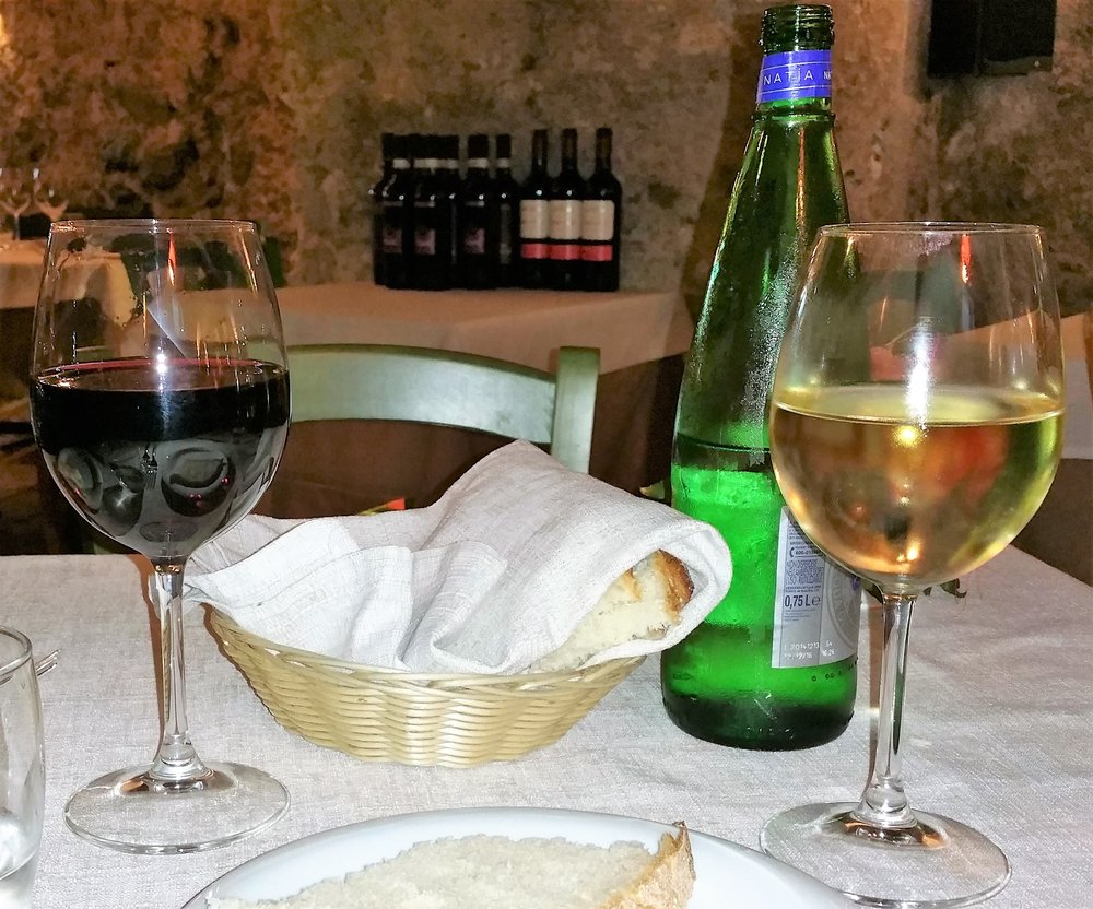 House wine, Salerno, Italy